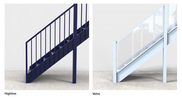 Highline and Vetro balustrades